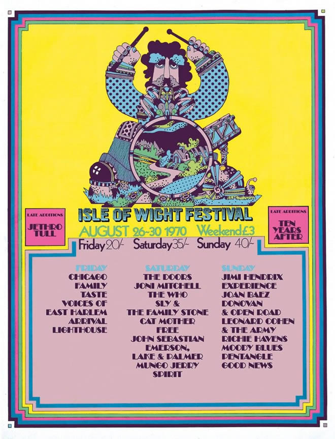 The Isle Of Wight Festival August 1970 This Day In Music