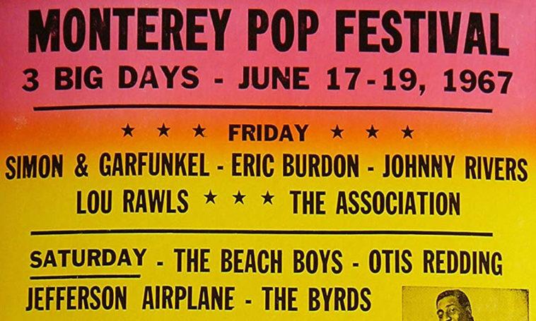 Vintage Monterey Pop Festival Concert Poster 1967 Grateful Dead
